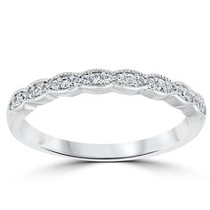 Bridal & Wedding Party Jewelry Jewelry & Watches Disciplined 14k White Gold 6 Mm Milgrain Wedding Band