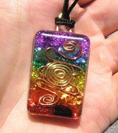 7 Chakras Activation Healing Orgone Pendant by mysticrocksorgone, $28.00