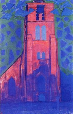 terminus ante quem — Piet Mondriaan (Dutch, 1872-1944), Church Tower at...