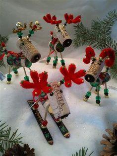 Homemade Wine Cork Christmas Ornaments | WINE CHRISTMAS ORNAMENT - Winedeer-Very Merry Moose-Bighorn Sheep ...