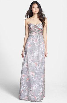 Amsale 'Amore' Print Silk Chiffon Gown | Nordstrom