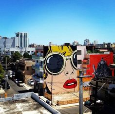 D* face mural in Santurce, Puerto Rico