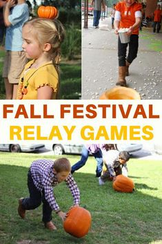 kids will love these pumpkin games! Pumpkin relay racing and lots more ideas for fall parties! Pumpkin relay racing and lots more ideas for fall parties! Fall Carnival Games, Fall Party Games, School Carnival Games, Fall Games, Fall Party Ideas, Kids Carnival, Holiday Games, Autumn Ideas, Fun Ideas