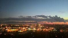Закат в спальном районе Петербурга Небо полное огня