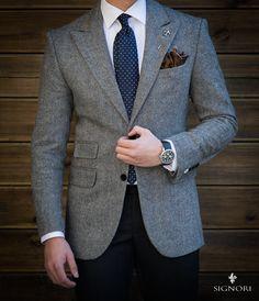 Sport Chic Homme Blazers 45 Ideas For 2019 Sport Chic Homme Blazer 45 Ideen für 2019 Mens Fashion Suits, Mens Suits, Trendy Fashion, Gentleman Mode, Gentleman Style, Business Casual Men, Men Casual, Style Costume Homme, Grey Sport Coat