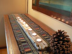 Large Rustic 8 votive, beach decor, driftwood candle centerpiece, rustic home decor, beach decor, Christmas gift idea on Etsy, $42.00