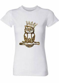 Signature Owl T-Shirt in Leopard Print