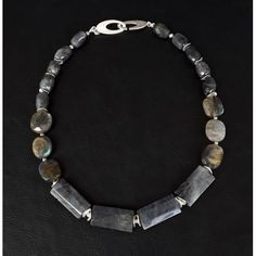 The Hestia Healing Necklace made of pure 925 Silver and natural Labradorite gemstones. Ring Chandelier, Emo Fashion, Gothic Fashion, Chakra Healing, Amethyst Crystal, Steampunk Fashion, Necklace Lengths, Rose Quartz, Labradorite