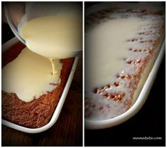 Tres Leches, σιμιγδάλι κι ινδοκάρυδο - mamatsita.com Easy Sweets, Tres Leches Cake, Confectionery, Glass Of Milk, Cooking Recipes, Gluten Free, Pudding, Cookies, Desserts