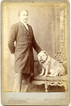 Victorian actor Sir Herbert Beerbohm Tree and Bully-boy who was the most charming Bulldog the world has ever known; the adored of all who knew him, the applauded of thousands, who hummed with excitement when the time came for his stately waddle on to the stage.
