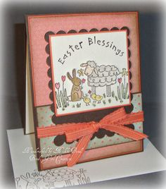 Easter Blessing  Handmade Easter card