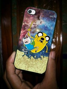 Adventure Time BMO Jake and Finn War on Nebula iPhone Case And Samsung Galaxy Case
