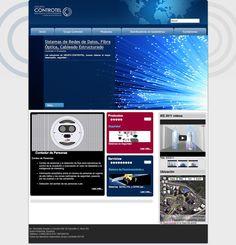 Diseño web para GRUPO CONTROTEL, plataforma joomla, CMS