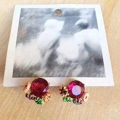 Anthropologie Earrings - Floral Stud Cuties , NWT Adorable!!!  Anthropologie Earrings new with tags. Sparkling pink gems are accented with small metal flowers. Tag is removed from back as these were a gift at the time. Fair offers considered, thank you for looking  Anthropologie Jewelry Earrings