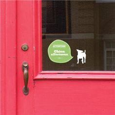 WARNING: Affectionate dog
