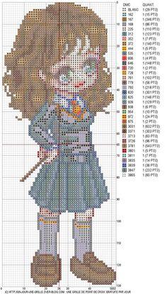free Hermione Granger cross-stitch