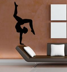 Dance Wall Decal Sport Girl Gymnast Gym by WallDecalswithLove