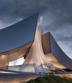 Crashing Waves-Tongyeong Concert Hall by Form4 Architecture in South Korea (2009)