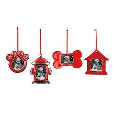 Pewter Pet Picture Frame Ornaments | Kirklands #KirklandsHoliday