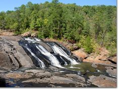 High Falls State Park in Jackson, GA is named for tumbling cascades on the Towaliga River. Overnight accommodations include a spacious campground or lakeside yurts.