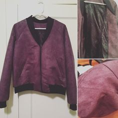 Made myself a new faux suede jacket for Christmas. Pretty proud of this one - first welt pockets and bagged lining. So many new skills #rigelbomber #papercutpatterns #makeyourownclothes