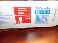 "Convatec Box of 10 413313 Natura Drainable Ostomy Pouch 2 1/4"" (57mm) #Convatec"