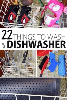 22 things you didn't know you could wash in a dishwasher. This is the cleaning hack you didn't know you needed! Cool Diy Projects, Home Projects, Deep Cleaning, Cleaning Hacks, Really Good Stuff, Diy Shops, Cute Relationships, Life Organization, Getting Organized