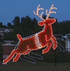 60069fb61f Animated LED Reindeer Display - The large commercial reindeer connects to  our Giant Animated Santa