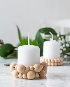 Diy Craft Projects, Diy Crafts, Diy Home Accessories, Bois Diy, Diy Porch, Beaded Garland, Dollar Store Crafts, Diy Interior, Diy Candles