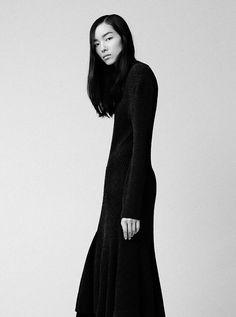 Long Black Dress - sleek minimal knitwear, minimalist style // Lanvin Fall 2014