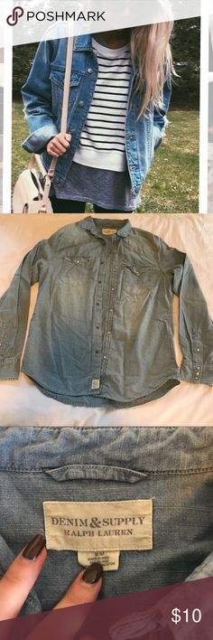 NWOT Denim Top NWOT, no sings of any wear. Great for layering. Ralph Lauren. Price firm. Bundle for discounts. Feel free to ask any questions :-) Brandy Melville Tops
