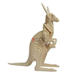 Kangaroo----DIY 3D Jigsaw Woodcraft Kits Realistic Wooden Model Toy Animal Puzzle, 3d Puzzles, Kangaroo, Wood Crafts, Toy, Architecture, Model, Baby Bjorn, Arquitetura