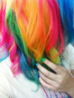 #rainbow #rainbowhair