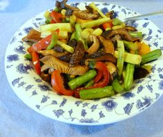 Beans with Peppers & Shiitakes {Via Seasonal Ontario Food}