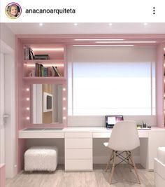 Teen Bedroom Designs, Bedroom Decor For Teen Girls, Bedroom Closet Design, Bedroom Furniture Design, Room Ideas Bedroom, Small Room Bedroom, Teenage Room Decor, Small Room Design, Home Room Design