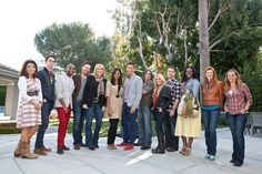 Britany Simon and The 11 Design Star Finalist with David