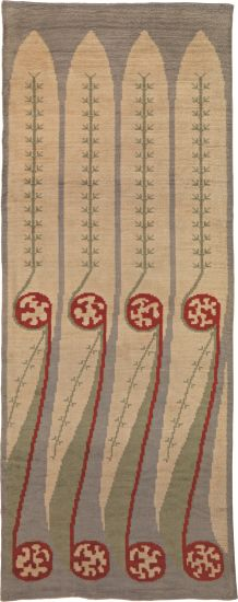 View Rare and early carpet by Akseli Gallen-Kallela sold at Important Nordic Design on 17 November 2011 London. Rya Rug, Wool Rug, Scandinavian Embroidery, Art Nouveau, Art Deco, Textiles, Art Textile, Nordic Design, Rug Hooking