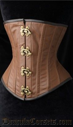 Classic Leather Steampunk Clasp Corset #corset #underbust #steampunk http://draculaclothing.com/index.php/classic-leather-steampunk-clasp-corset.html