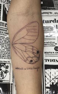 Break up tattoos ideas butterfly wings
