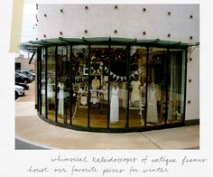 Chicago & Houston Window Display Wedding Gowns | B-Inspired | BHLDN