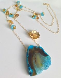 Blue rare agate...i love this combination!