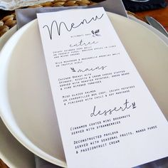 Sometimes simplicity is best 👌 These menus are from my Hope Collection! A calming set of simple stationery that goes well with a rustic or greenery setting 🌿 . Crispy Potatoes, Roasted Potatoes, Wild Mushrooms, Stuffed Mushrooms, Wedding Menu, Wedding Planner, Parsnip Puree, Arancini, Menu Design