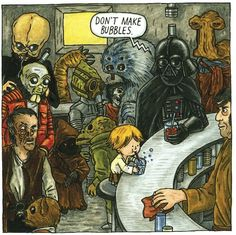 Artist and author Jeffrey Brown has created a children's book, based on the movie Star Wars, that imagines Darth Vader playing an active role in his son Luke Skywalker's life.