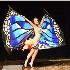 Jasmin - butterfly wings!! We create wings for dance!