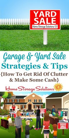 Garage and yard sale strategies and tips to help you both get rid of the in your home, and also make some cash on Home Storage Solutions 101 Yard Sale Organization, Financial Organization, Organizing Life, Organising, Garage Sale Tips, Getting Rid Of Clutter, Home Storage Solutions, Sales Strategy, Moving Tips