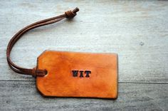 Another #leather #hangtag I'm liking this, one word, simple. Could have Forever Young Logo