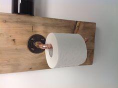Copper Pipe Toilet Roll Holder  *Industrial/modern/vintage*