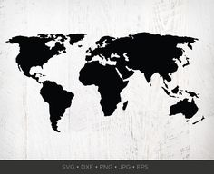 Silhouette of an easy-cut world map to add to your DIY arsenal!W H A T Y O U ' L L G E T__________________________________________NOTE: This is a digital file. No physical product will be sent to you. Global Map, Art File, Moose Art, Poster Prints, Clip Art, Silhouette, Cricut, World, Artwork