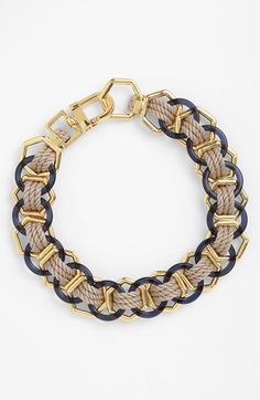 Tory Burch 'Pebble Ring' Rope Link Necklace | Nordstrom
