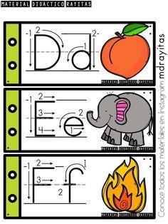 Preschool Curriculum, Preschool Worksheets, Preschool Activities, Alphabet Writing Practice, Teaching The Alphabet, Spanish Alphabet, Alphabet Tracing, Teacher Tools, Alphabet Activities